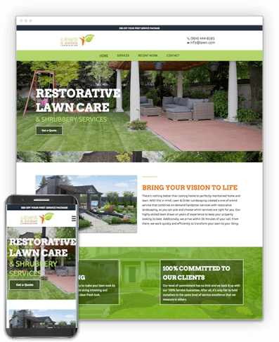 Restorative Lawn Care Website